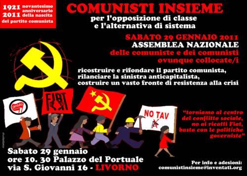Tutti a Livorno il 29 gennaio... Facciamo una bella sorpresa a Marchionne, Berlusconi, Marcegaglia...