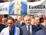 25 aprile 2015 striscione Brigata Ebraica