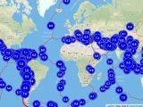 Mappa terremoti oltre la magnitudo 5,5