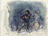 Tamino e Pamina dipinto de Il flauto magico_di Mozart