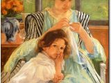 Young mother sewing, 1900, Mary Cassatt
