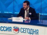 Salvini-negli-studi-della-Tv-di-Stato-russa-Rossiya-Segodnya